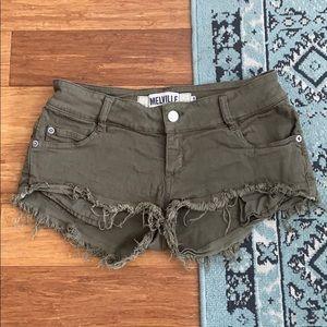 Brandy Melville Olive Shorts